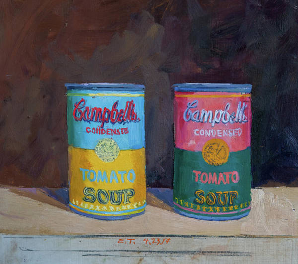 Wall Art - Painting - Campbell Soup Time by Edward Thomas