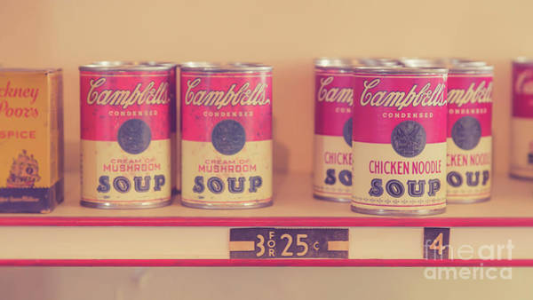 Wall Art - Photograph - Campbells Condensed Soup Retro by Edward Fielding
