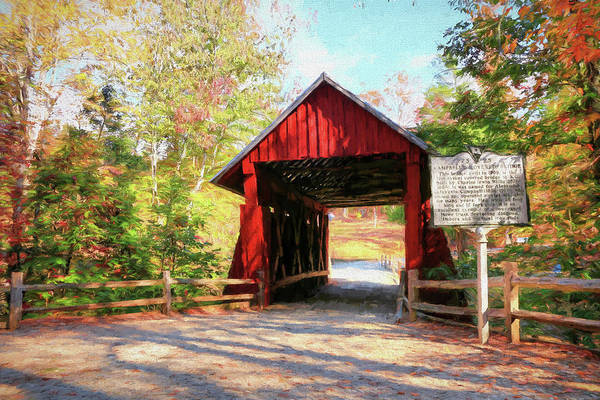 Photograph - Campbell's Covered Bridge  by Frank G Montoya
