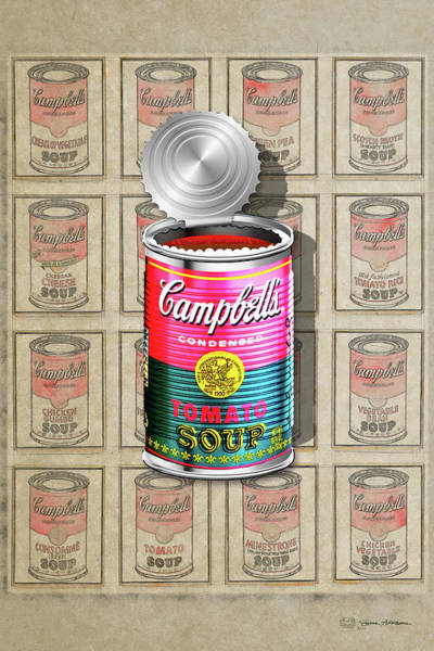 Digital Art - Campbell's Soup Revisited - Pink And Green by Serge Averbukh