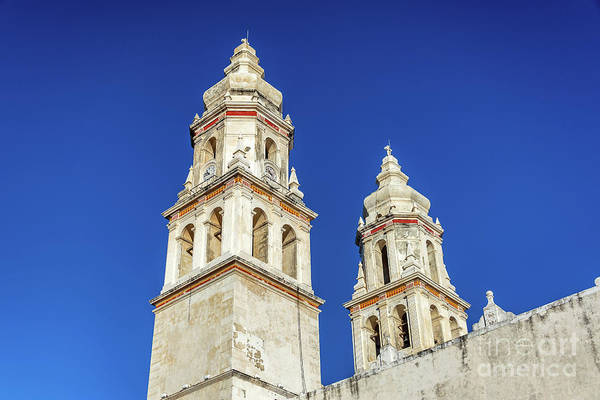 Wall Art - Photograph - Campeche Cathedral Spires by Jess Kraft