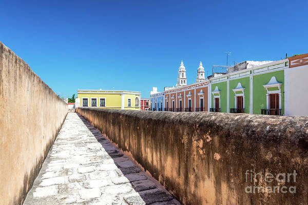 Campeche Photograph - Campeche Wall And City View by Jess Kraft