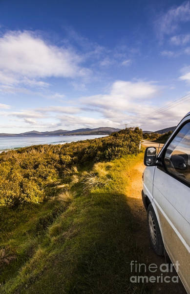 Campervan Photograph - Camper Van Touring Bruny Island by Jorgo Photography - Wall Art Gallery