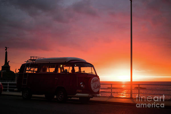 Photograph - Campervan At Sunset by Keith Morris