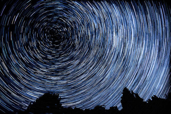 Wall Art - Photograph - Campground Star Trails by Paul Freidlund