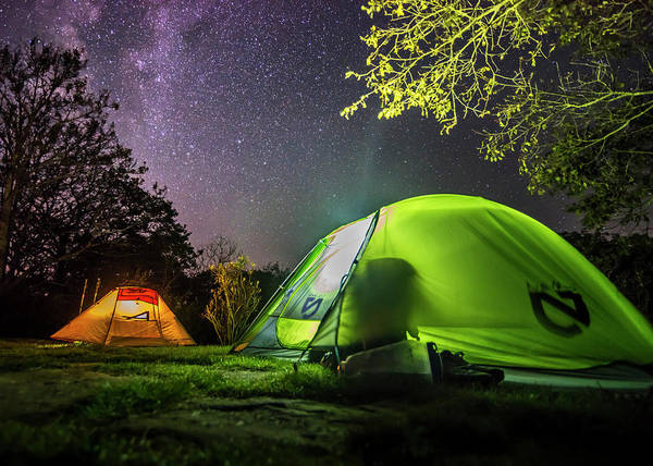 Photograph - Camping Beneath The Milky Way by Andy Crawford