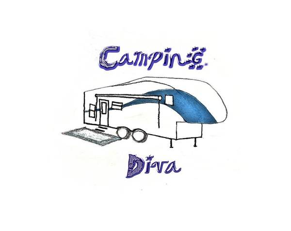 Drawing - Camping Diva by Judy Hall-Folde