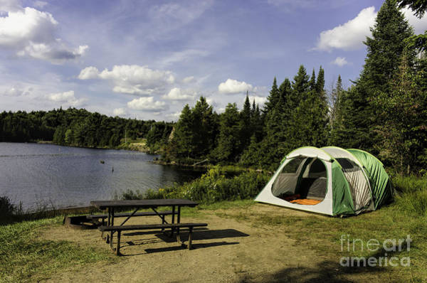 Photograph - Camping In Algonquin Park by Les Palenik