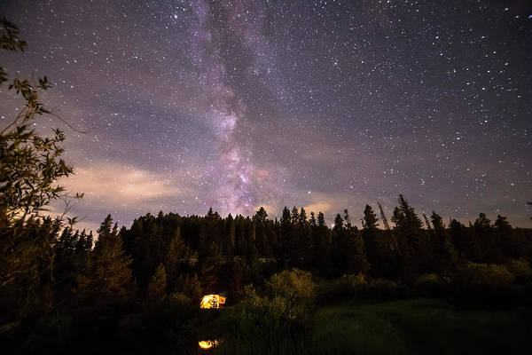 Photograph - Camping Under Nighttime Milky Way Stars by James BO Insogna
