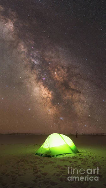 Photograph - Camping Under The Galaxy  by Michael Ver Sprill