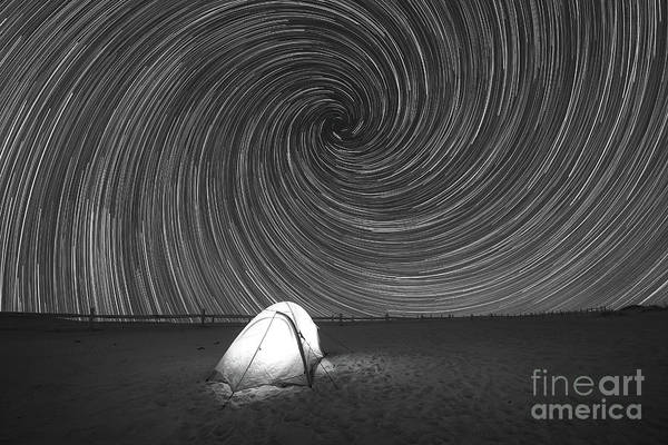 Photograph - Camping Van Gogh Bw  by Michael Ver Sprill