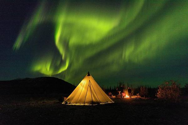 Wall Art - Photograph - Camping With Auroras by Tim Grams