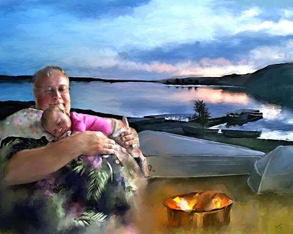 Painting - Camping With Grandpa by Susan Kinney