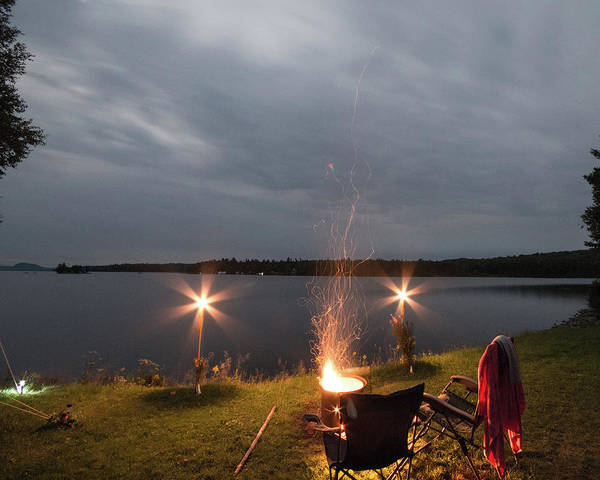 Wall Art - Photograph - Campsite Lakeside by Justin Mountain