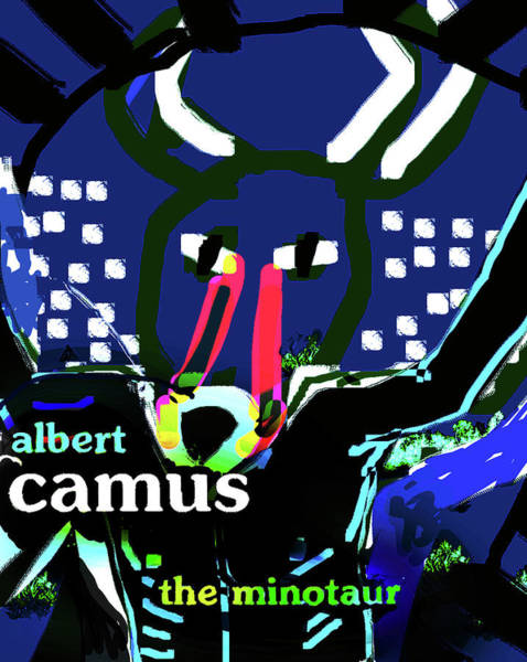Drawing - Camus The Minotaur Poster by Paul Sutcliffe