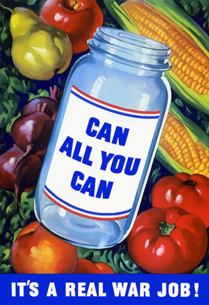 Food Art Painting - Can All You Can -- Ww2 by War Is Hell Store
