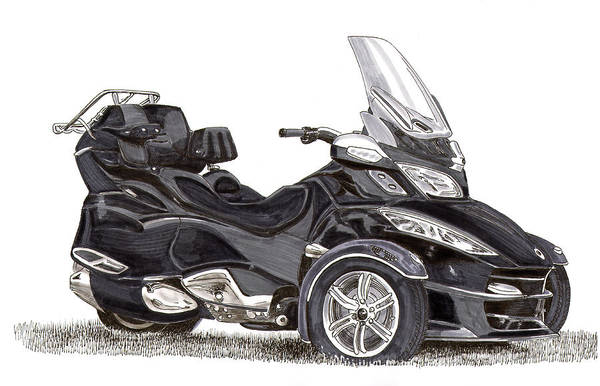 Confident Painting - Can-am Spyder Trike by Jack Pumphrey