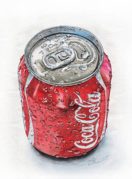 Soda Pop Painting - can by Mikhail Starchenko