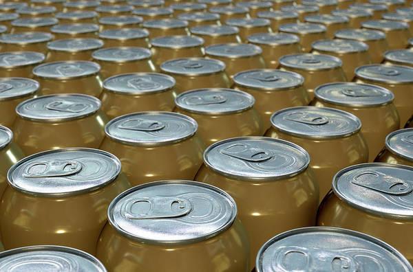 Soda Pop Wall Art - Digital Art - Can Production Line by Allan Swart