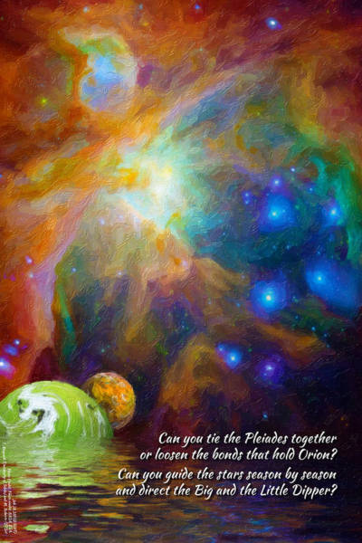 Can You Tie The Pliades Together? Art Print