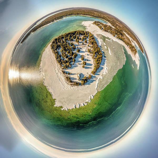 Photograph - Cana Island Lighthouse Little Planet by Randy Scherkenbach