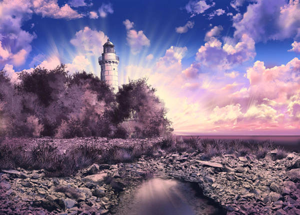 Wall Art - Painting - Cana Island Lighthouse by Bekim M