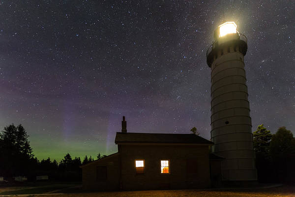 Photograph - Cana Island Northern Lights by Paul Schultz