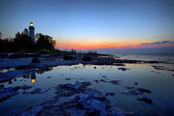 Photograph - Cana Island Sunrise by CA  Johnson
