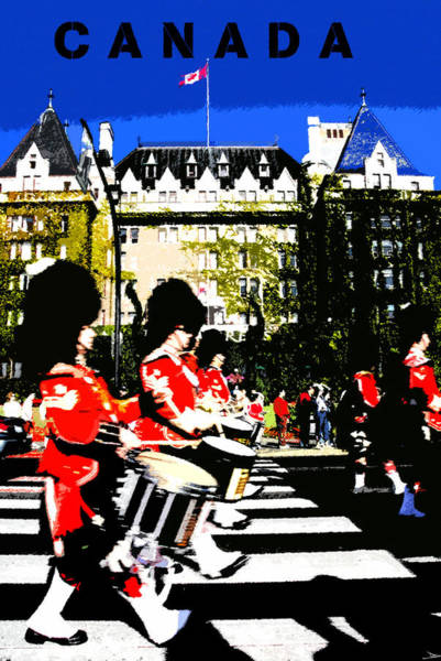 Marching Band Painting - Canada by David Lee Thompson