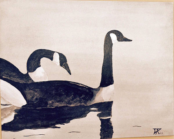 Painting - Canada Geese by Donald Paczynski