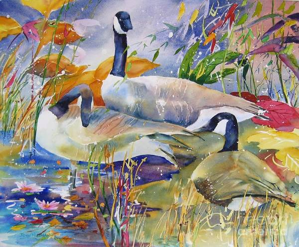 Painting - Canada Geese by John Nussbaum