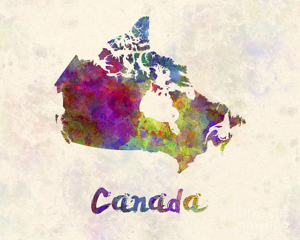 In Canada Painting - Canada In Watercolor by Pablo Romero