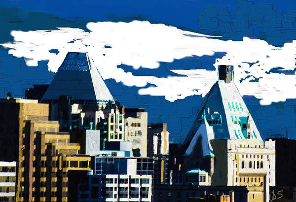 Vancouver Digital Art - Canada Towers by Dale Stillman