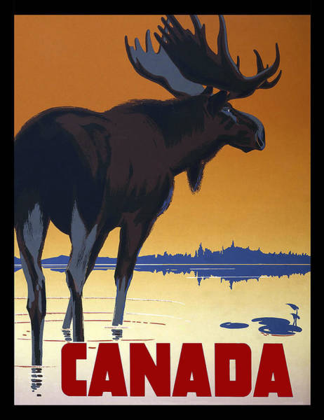 Wall Art - Photograph - Canada Vintage Travel 1950 by Daniel Hagerman