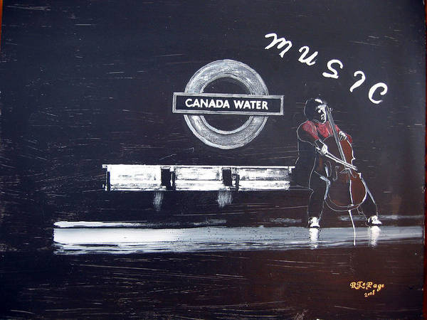 Painting - Canada Water Music by Richard Le Page