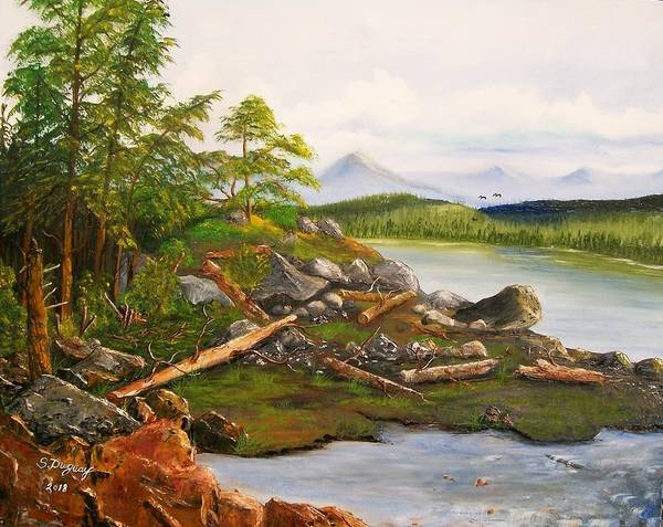 Painting - Canadian Coastline by Sharon Duguay