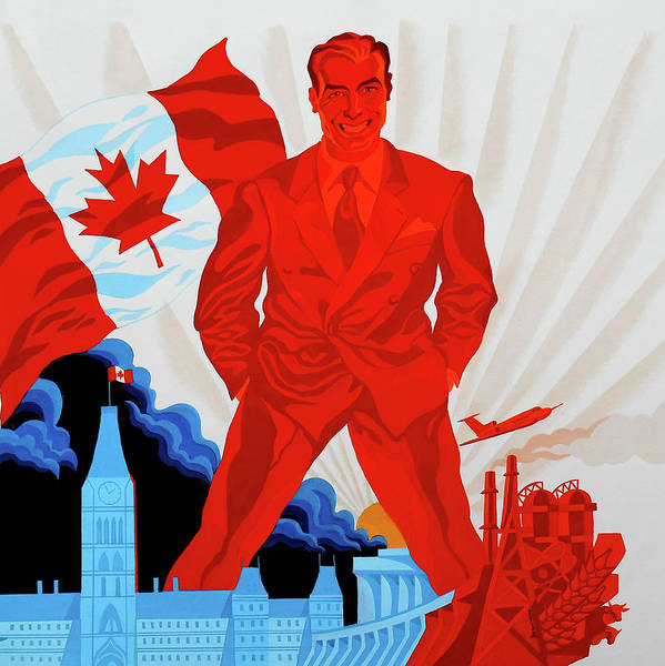 Up North Painting - Canadian Liberal Politics by Leon Zernitsky