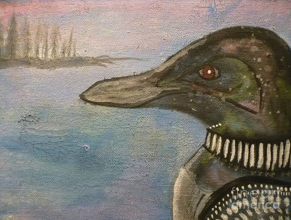 Loon Painting - Canadian Loon by 'REA' Gallery