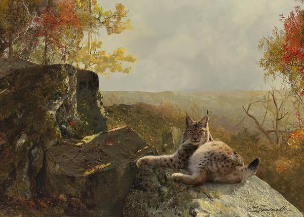 Wall Art - Digital Art - Canadian Lynx by M Spadecaller