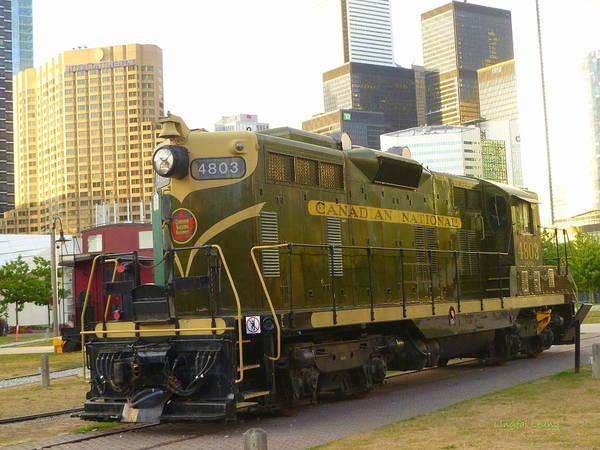 Canadian National Railway Photograph - Canadian National No. 4803  by Lingfai Leung