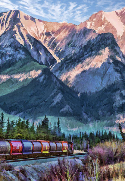 Painting - Canadian National Railway In Jasper by Christopher Arndt