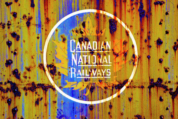 Canadian National Railway Photograph - Canadian National Railways Logo/sign by Paul W Faust - Impressions of Light