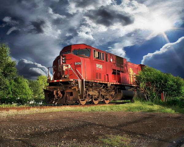 Photograph - Canadian Pacific Locomotive by Anthony Dezenzio