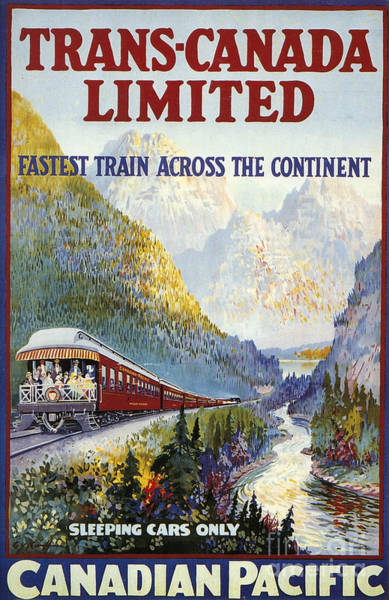 Aod Painting - Canadian Railroad Poster by Granger