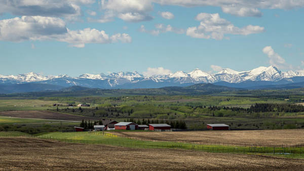 Photograph - Canadian Rockies In The Distance by M C Hood