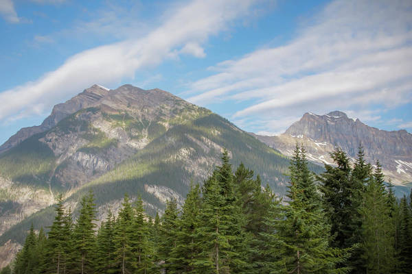 Photograph - Canadian Rockies Near Kicking Horse Pass Painterly by Joan Carroll