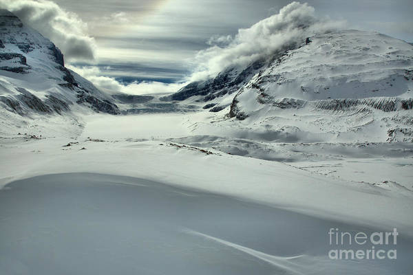 Photograph - Canadian Rockies Winter Curves And Mountains by Adam Jewell