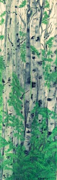 Painting - Canadian White  Poplar by Sharon Duguay