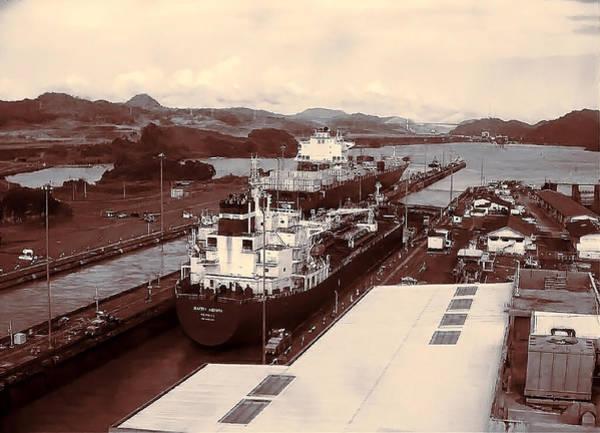 Photograph - Canal De Panama - Panama Canal by Susan Maxwell Schmidt