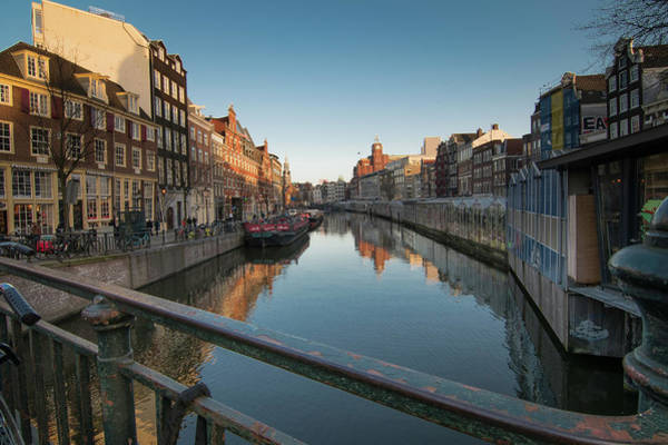 Canal From The Bridge Art Print